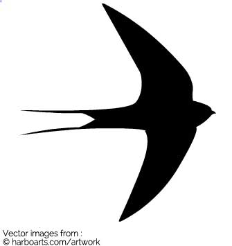 335x355 Download Flying Swallow Silhouette