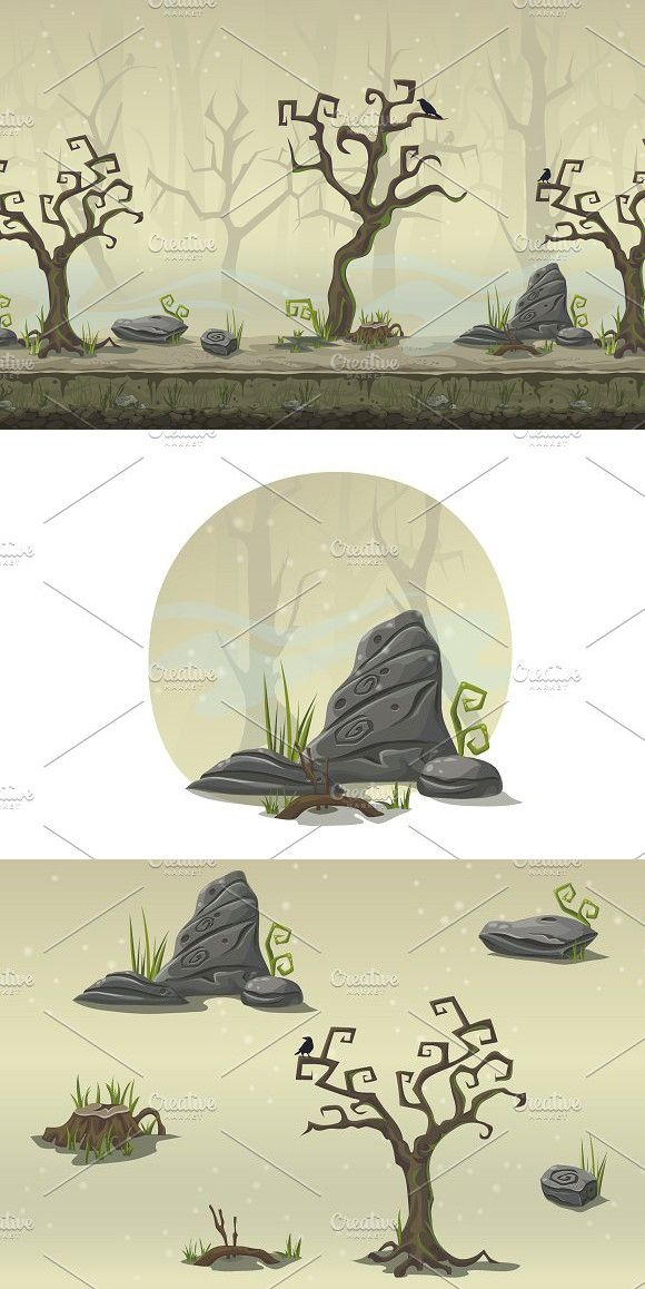 580x1158 Swamp Vector Background Seamless Vector Background