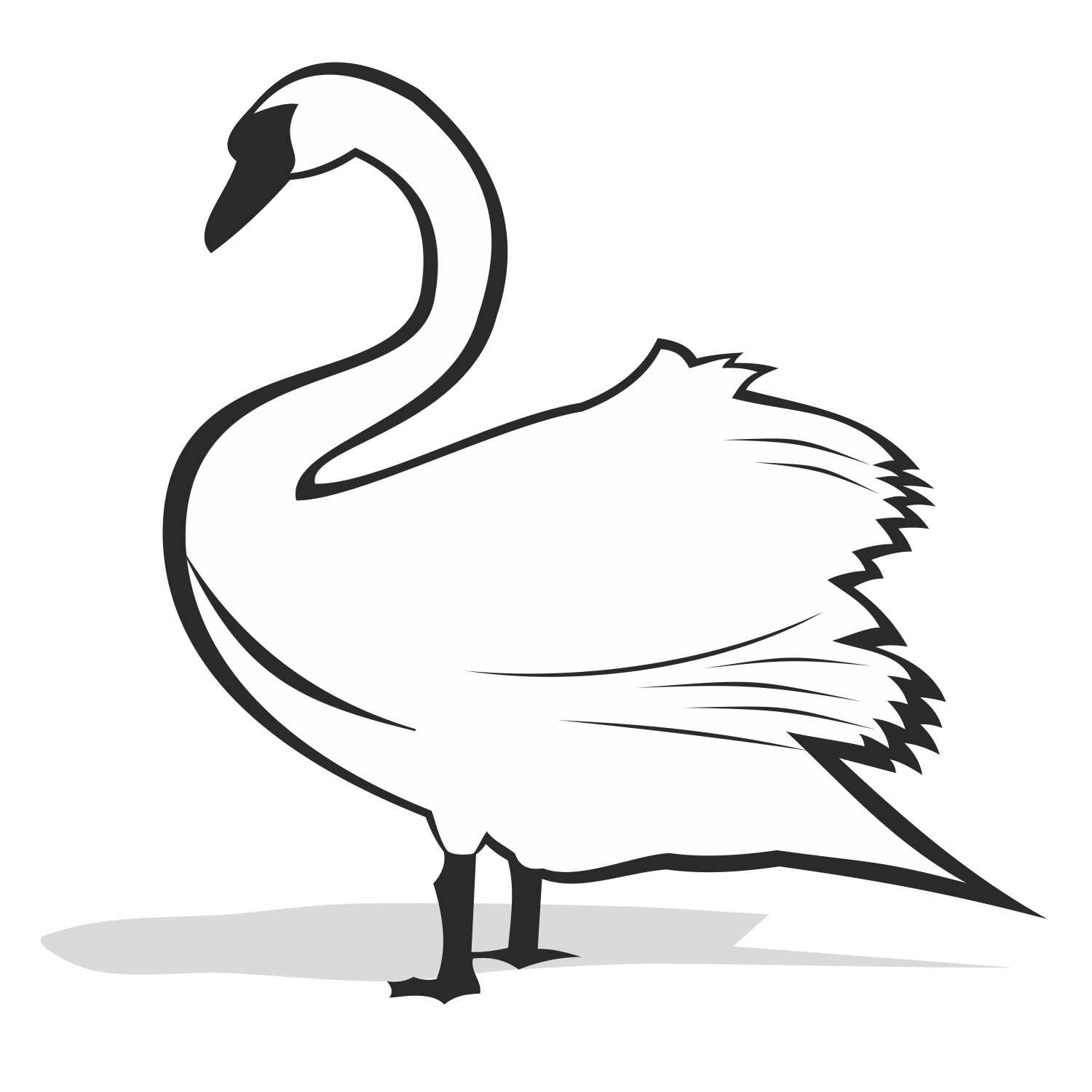 1500x1500 Vector For Free Use Swan Vector
