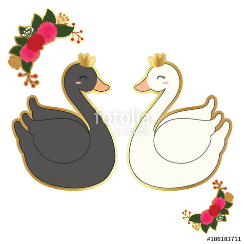500x500 Cute Swan Vector Stock Image And Royalty Free Vector Files On