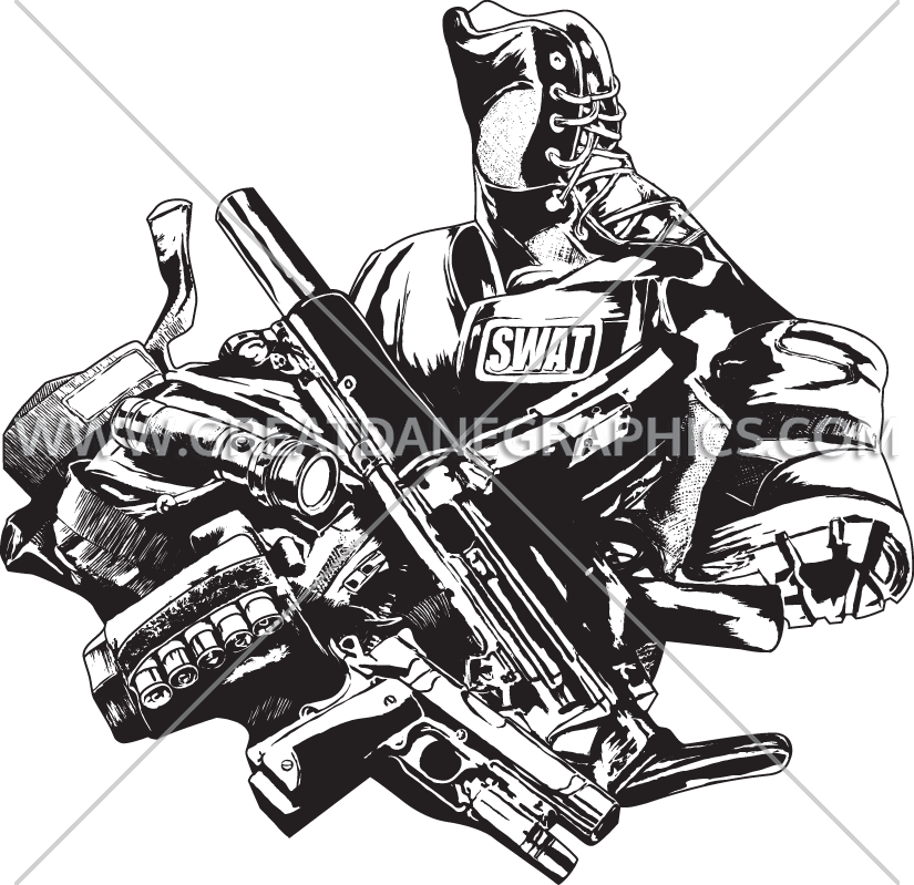 825x799 Swat Layout Production Ready Artwork For T Shirt Printing