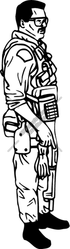 142x500 Swat Team Man Clipart And Vectorart Occupations