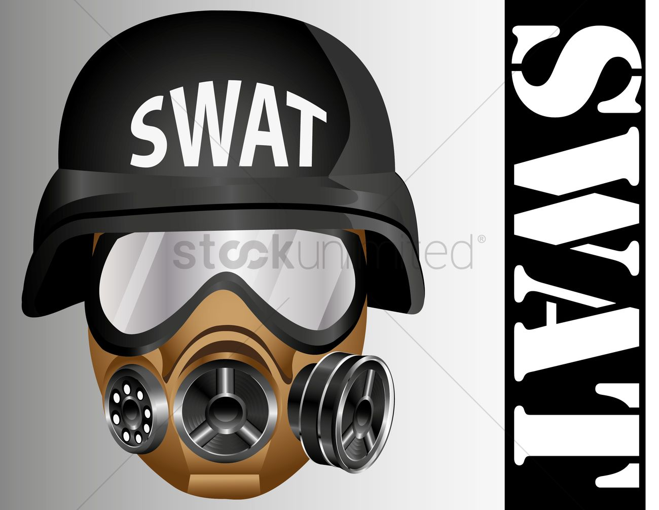 1300x1005 Swat Helmet And Gas Mask Vector Image