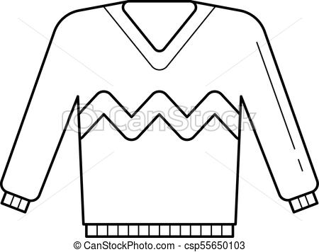 450x356 Sweater Vector Line Icon. Sweater Vector Line Icon Isolated On