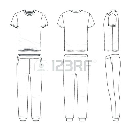 450x450 Sweatpants Design Template Sweat Pants Front Back And Side Views