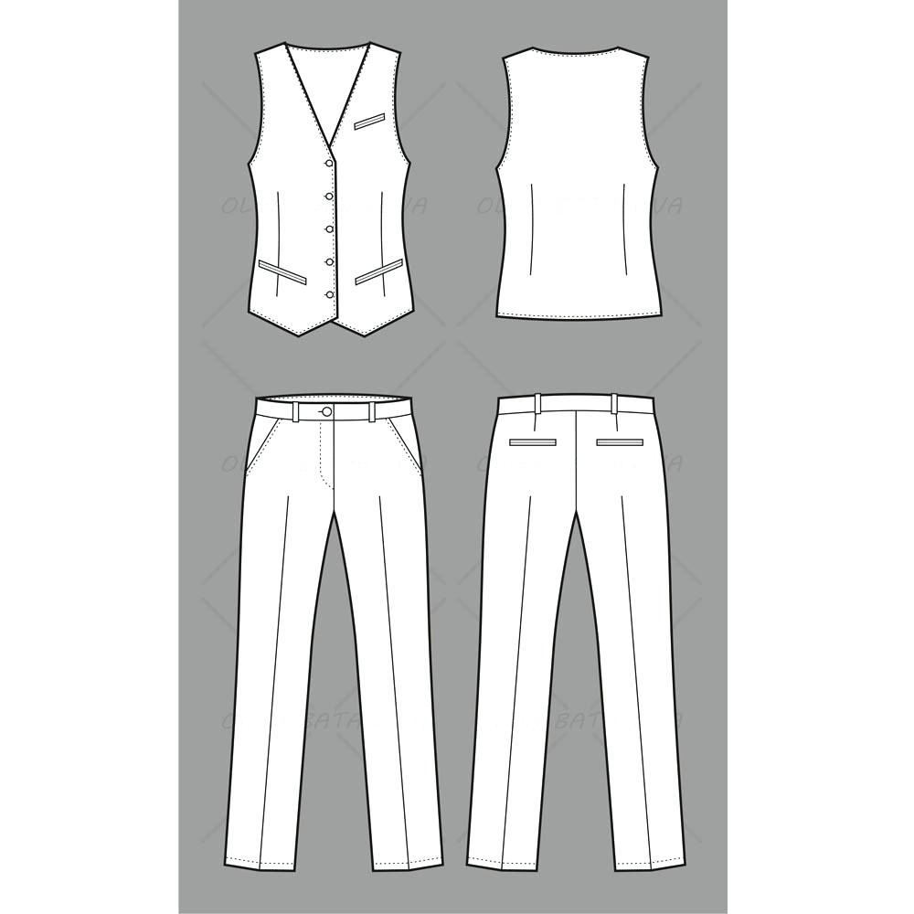 1000x1000 Template Pants Template Business Vest And Fashion Flat Sweatpants