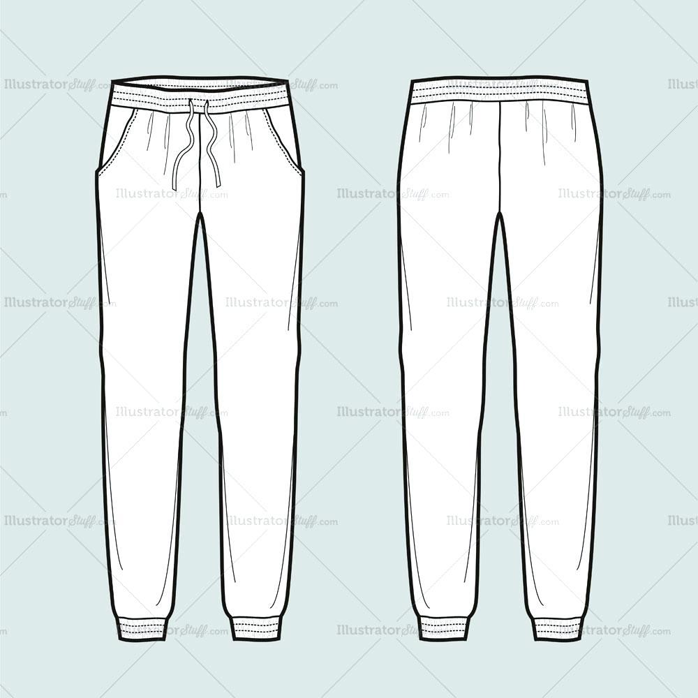 1000x1000 Template Sweat Pants Template Jogger Fashion Flat Sweatpants