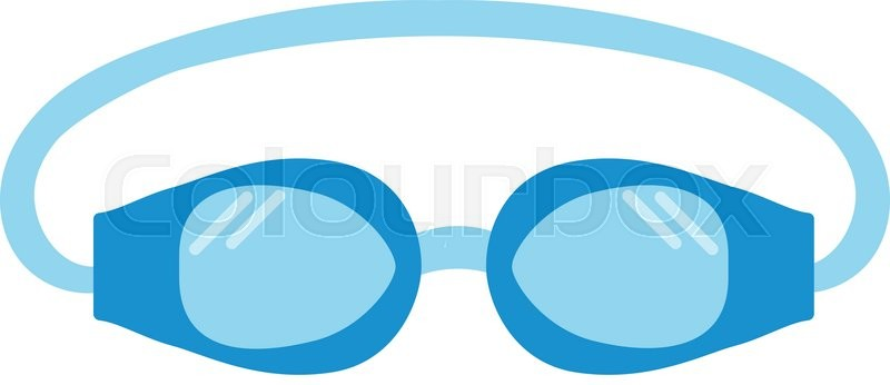 800x346 Pool Goggles Swimming Equipment Isolated Vector Illustration
