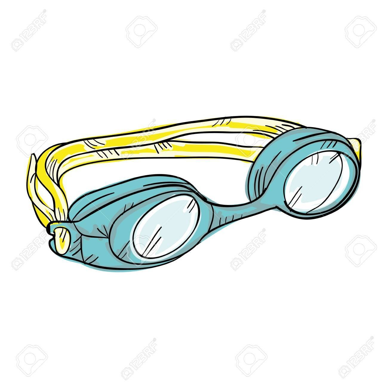 1300x1300 62576727 Swimming Goggles Swimmer Sport Water Equipment Vector