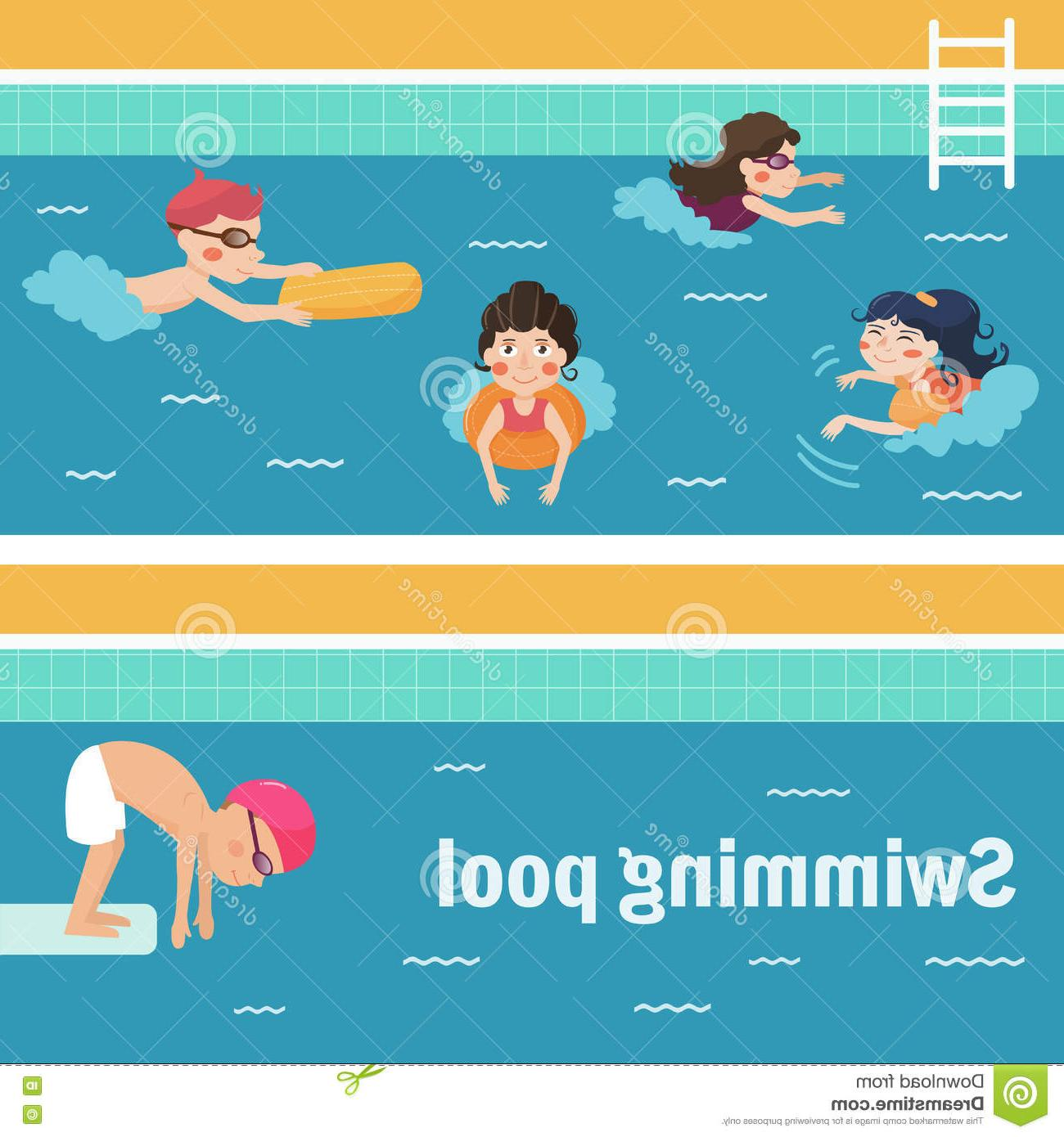1300x1390 Best Free Kids Swimming Pool Vector Illustration Cartoon