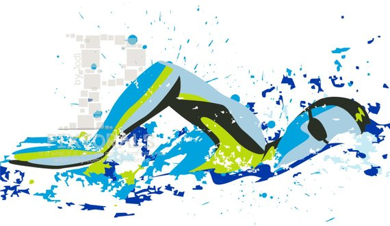 570x331 Swimmer Freestyle Stroke Vector Set Of Eps Jpeg Png Etsy