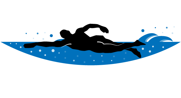 600x325 Swimmer Vector Clip Art 123freevectors