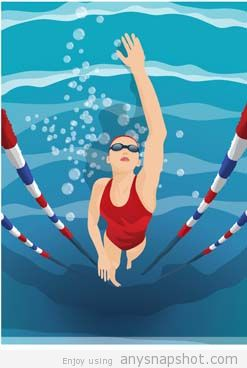 247x368 Swimming Vector Free