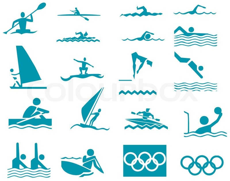 800x631 Swimming Sport. Vector Illustration Icons Sport Stock Vector