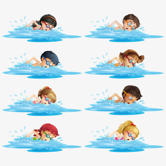 650x651 Vector Swimming Competition, Swimming Vector, Water, Child Png And