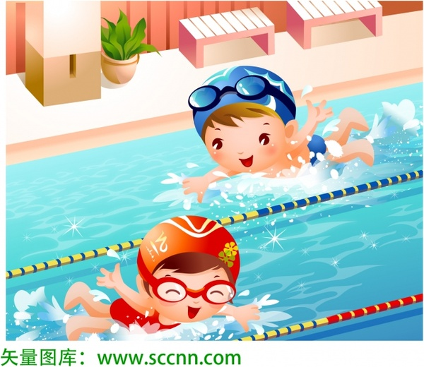 600x520 Vector Swimming Free Vector In Adobe Illustrator Ai ( .ai ) Vector