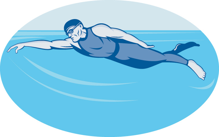 714x446 Swimmer Vector Free Stock Vector Triathlon Athlete Swimmer The