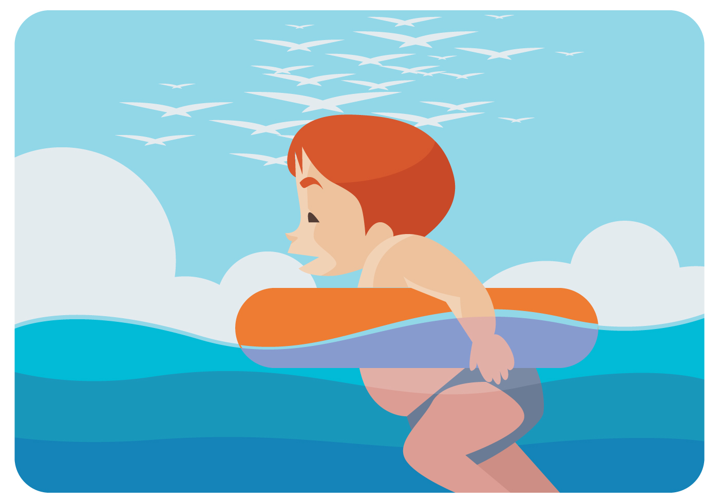 1400x980 Kids Swimming Free Vector Art