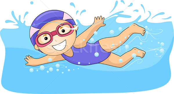 600x326 Little Girl Swimming Vector Illustration Lenm ( 3007910