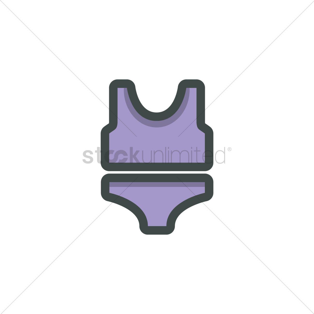 1300x1300 Swimsuit Vector Image
