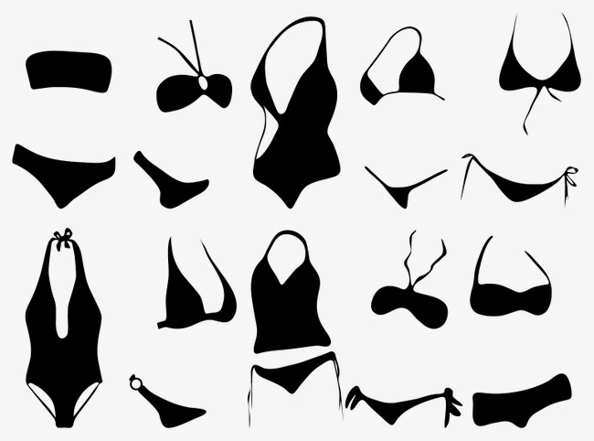 650x482 Vector Girl With Swimsuit, Vector, Black, Girls With Png And