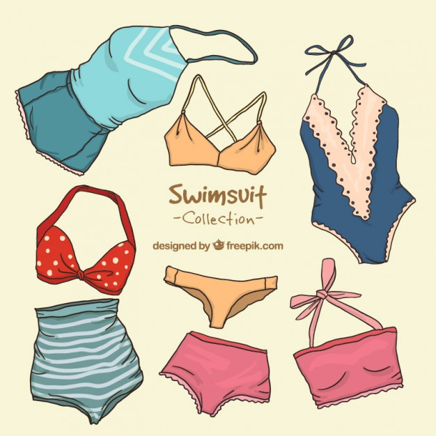 626x626 Collection Of Retro Swimsuit Vector Free Download