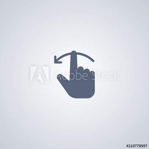 500x500 Hand Swipe Left Icon, Vector Best Flat Icon