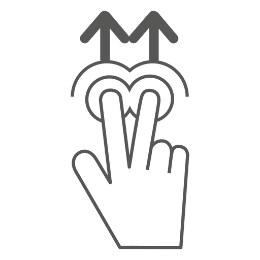 512x512 2x Swipe Up Gesture Icon