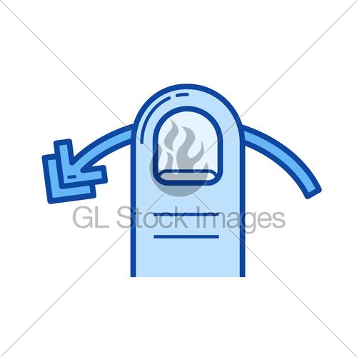 500x500 Swipe Horizontally Line Icon. Gl Stock Images