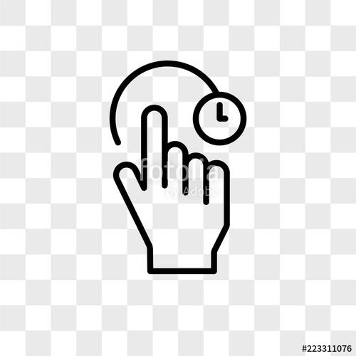 500x500 Swipe Vector Icon Isolated On Transparent Background, Swipe Logo