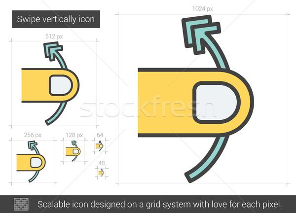600x432 Swipe Vertically Line Icon. Vector Illustration Andrei Krauchuk