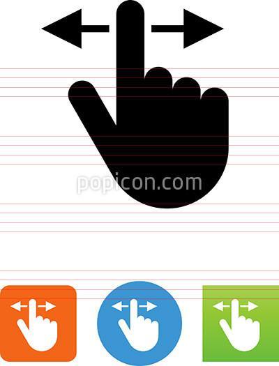 400x525 Vector Hand Swiping Across Icon