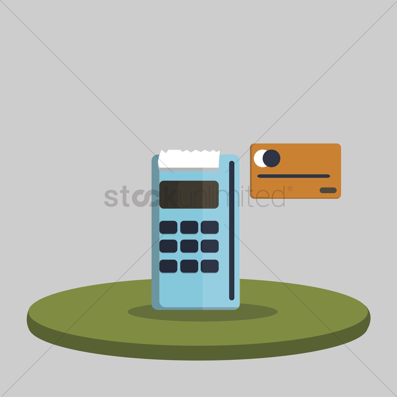 1300x1300 Free Illustration Of A Card Swipe Machine Vector Image