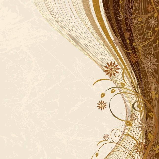 646x649 Brown Floral Swirl Background Vector Vector Art Amp Graphics