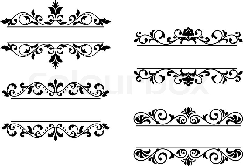 800x547 Floral Headers And Borders Stock Vector Colourbox