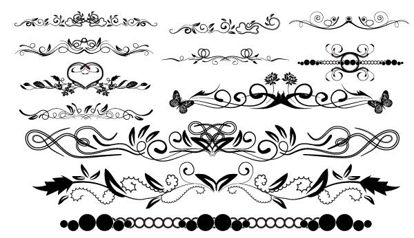 600x346 Free Swirl Clip Art Massive Collection Of Vintage Vector
