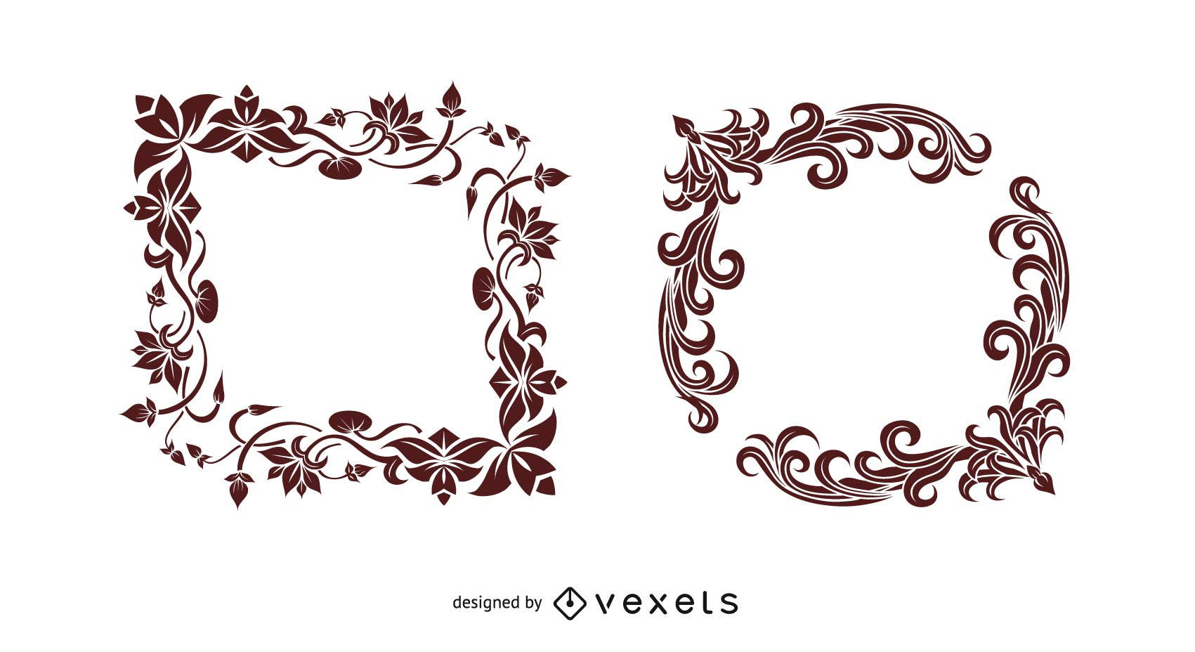 1701x928 Indian Style Border Vector Graphic