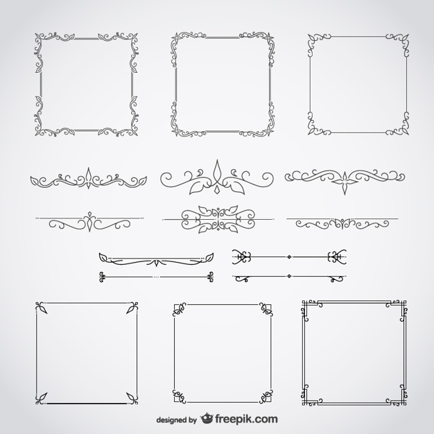 626x626 Swirl Border Vectors, Photos And Psd Files Free Download