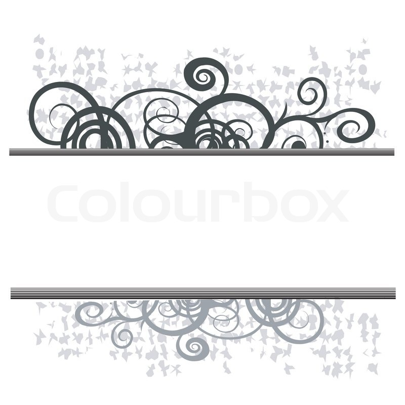 800x800 Swirl Floral Border For Your Text