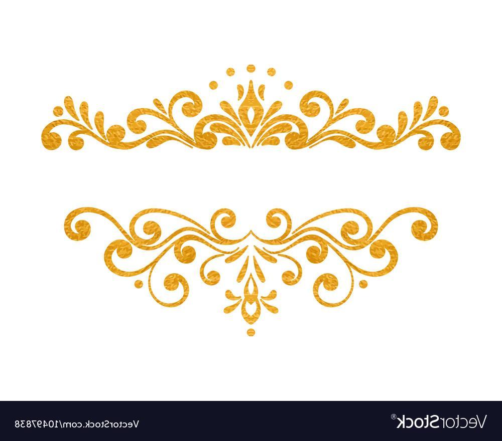 1000x880 Unique Gold Swirl Border Vector Images
