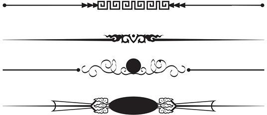 536x232 Wedding Swirls Border Vector Art Free Vector Download (217,226