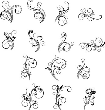 346x364 Free Vector Floral Swirls Download Free Vector Download (9,729