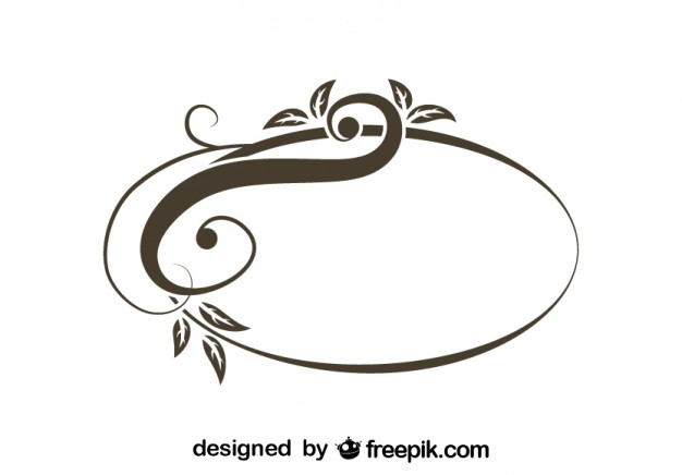626x436 Retro Asymmetrical Oval Swirl Stylish Design Vector Free Download