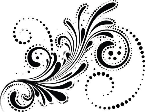 500x386 Swirls Decor Design Vector Set 05