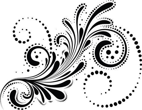 500x386 Swirls Decor Design Vector Set Free Vector In Encapsulated