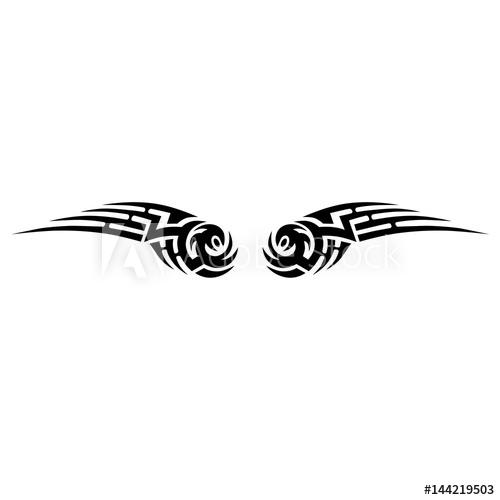 500x500 Tattoos Ideas Swirl Designs Tribal Tattoo Pattern Vector