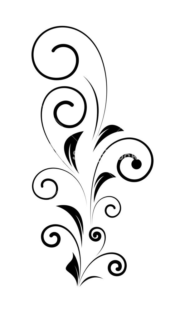 593x1000 Decorative Swirl Design Vector Shape Swirl Vector