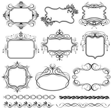 380x368 Decorative Swirl Line Borders Free Vector Download (34,880 Free