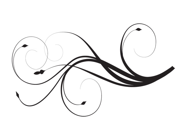 650x488 Use These Swirl Line Vector Clipart