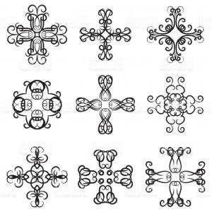 300x300 Vector Set Of Decorative Ornaments Calligraphy Swirl Line Graphic